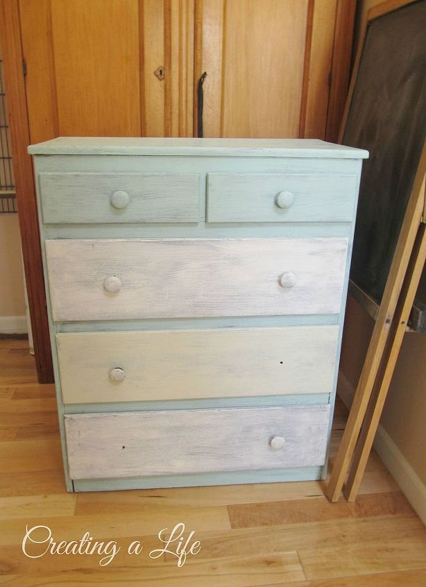I used this freebie dresser to create a cabinet to hide the unsightly kitchen garbage can