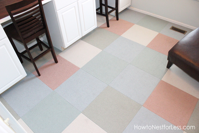 How to Install Carpet Tiles.  I show you step-by-step how to remove your old carpeting and pad, then how to install Flor Carpet Tiles. Super quick and easy, plus the final result is remarkable!