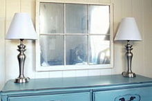how to turn an old window into a mirror, diy, home decor, how to, painted furniture, repurposing upcycling, Use looking glass spray to turn an old window into a mirror