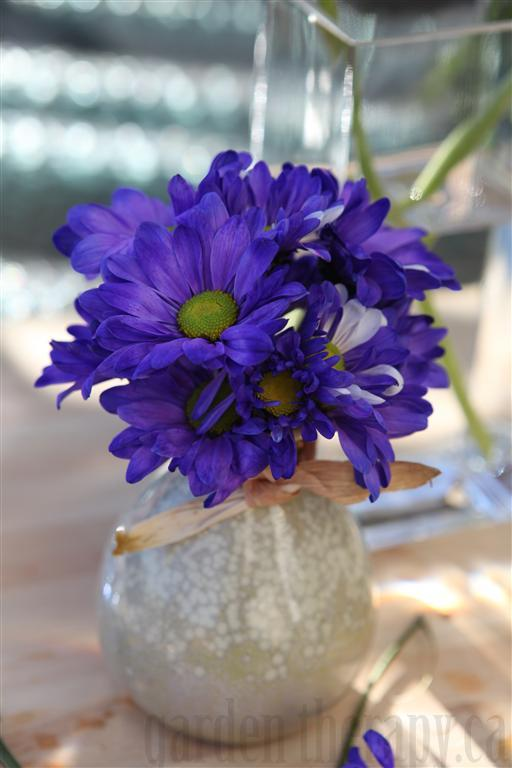 Display flowers in a cool place in your home away from direct sunlight.  You can also visit the blog for an easy recipe for a floral preservative to add to your arrangement and for even more tips on how to keep your flowers fresh.