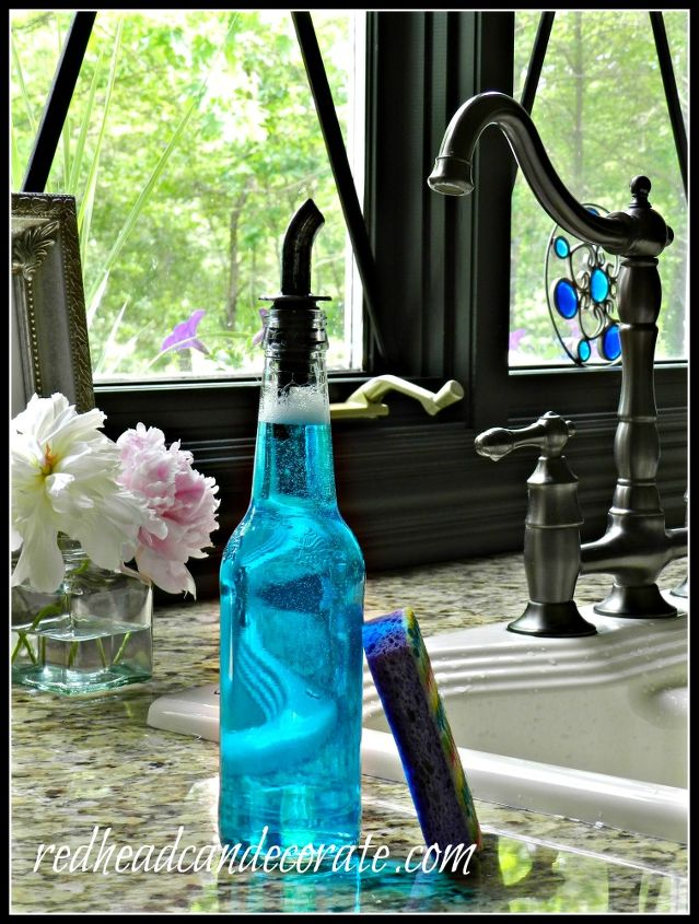 ball jar hand soap dispenser, repurposing upcycling, You may recall my Beer Bottle Dish Soap Dispenser which matches perfectly This is included in my post as well