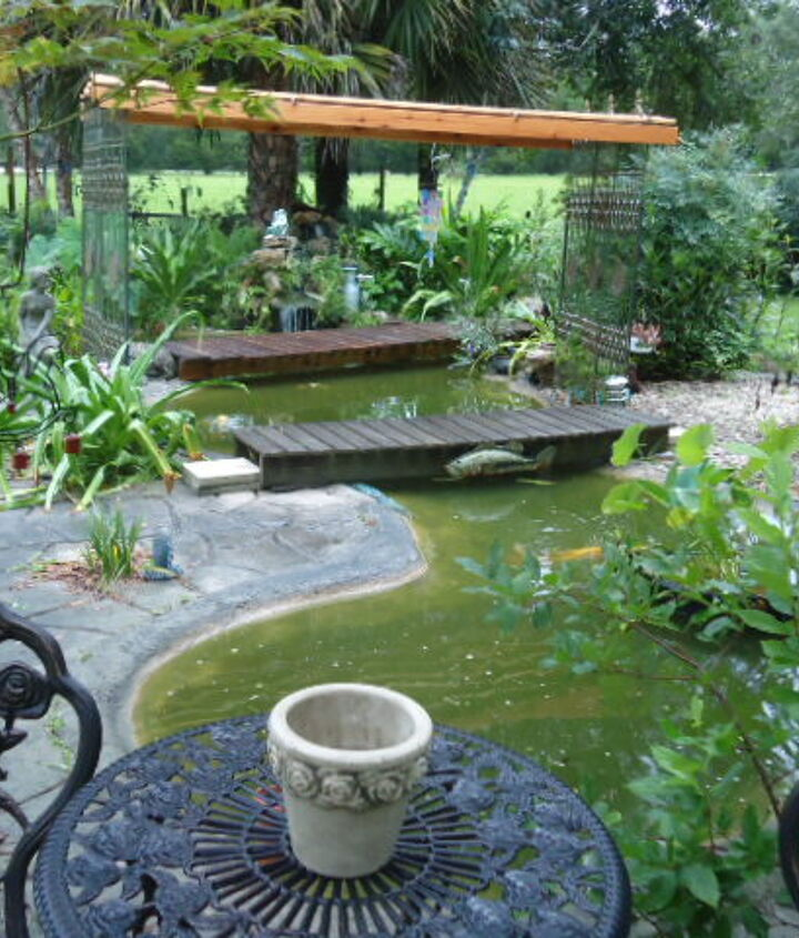 this is a project i made for shade for the koi pond