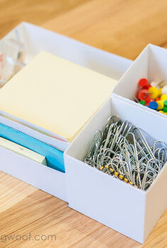 creating custom boxes for organization, crafts, organizing, Use plain cardstock to make custom boxes to hold small items