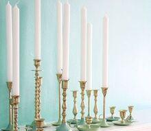 paint dipped brass candlestick, crafts, DIY Paint Dipped Brass Candlestick via Inspired by Charm