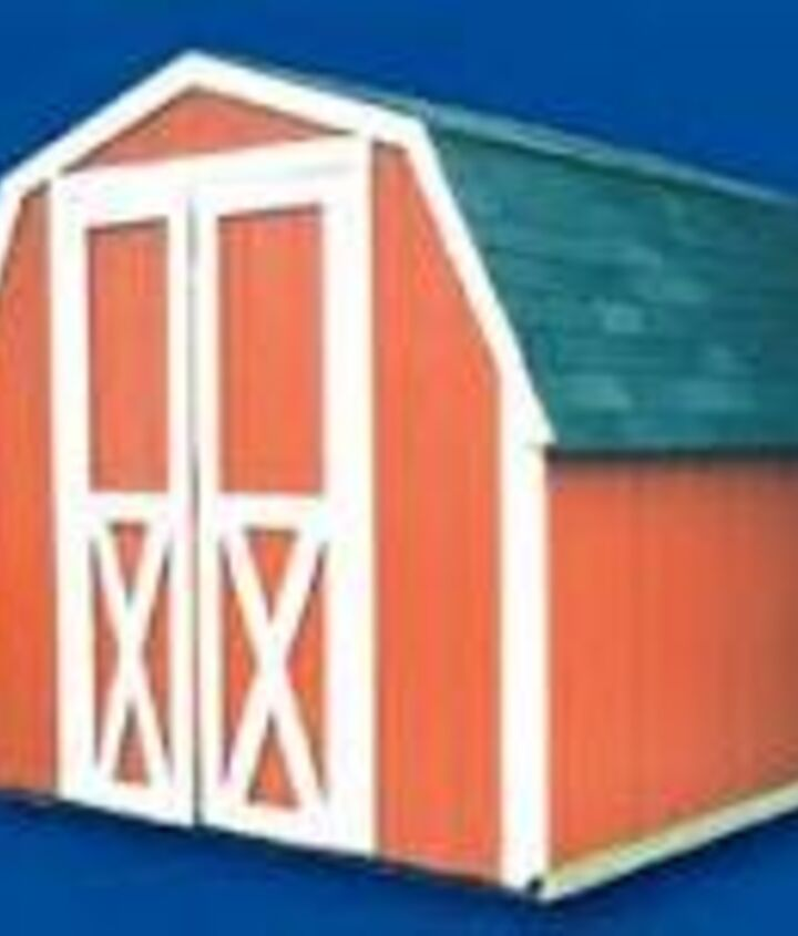 how would you paint this mini barn, painting