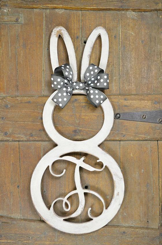 single letter bunny monogram, crafts, easter decorations, seasonal holiday decor
