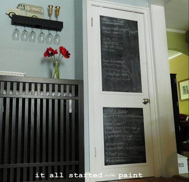 chalkboard door make your own hometalk