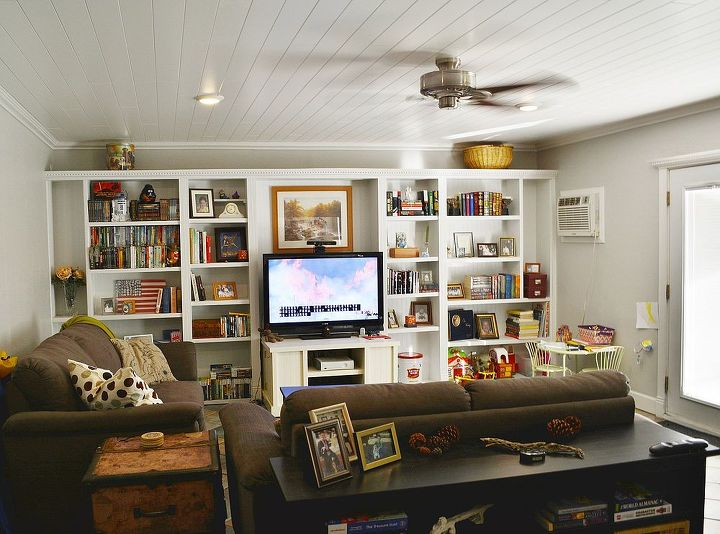 """After the remodel. A new ceiling 8"""" higher than the old, crummy suspended tile."""