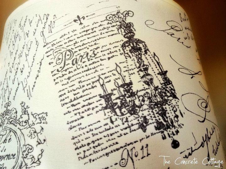 Diy French Script Lamp Shade Hometalk