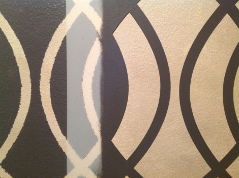 Perforations help you line up the stencil each time.