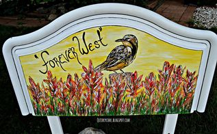from headboard to yard mural, crafts, flowers, gardening, outdoor living, repurposing upcycling