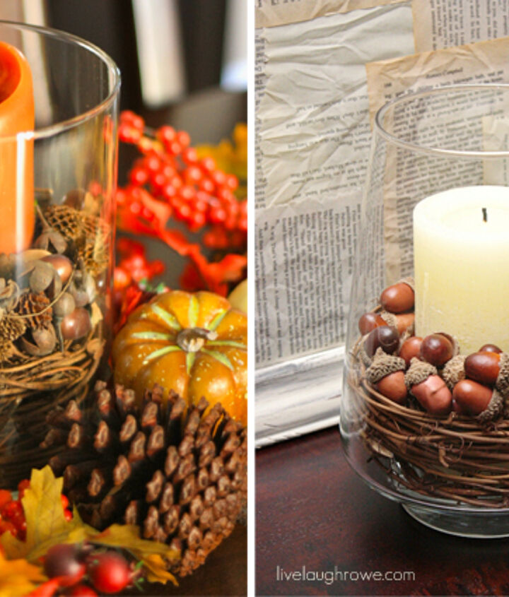 Make these fall centerpieces for half the price of store bought fillers!