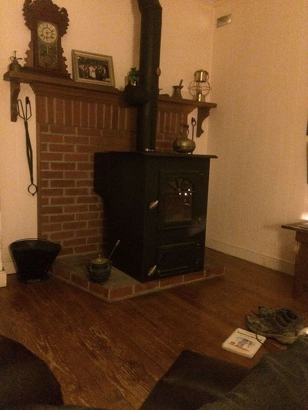 help with drab den, home decor, living room ideas, My den needs help Drab brick and wood hearth