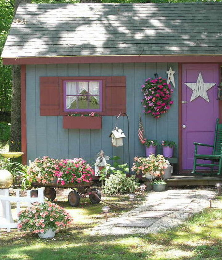 my fairy tale style shed, flowers, gardening, outdoor living