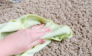 remove carpet stains, cleaning tips, flooring, Use a damp cloth to rinse out soap and remaining stain