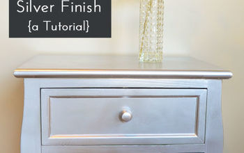diy silver spray paint furniture finish, painted furniture