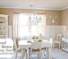 board amp batten dining room makeover, dining room ideas, home decor