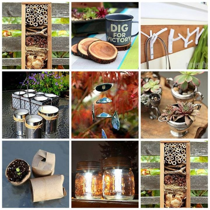 garden recycling projects, container gardening, crafts, gardening, mason jars, succulents, A round up of garden recycling projects to get busy with this weekend