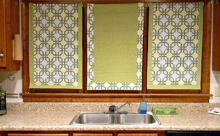 Making A Roman Shade With A Curtain Panel And Mini Blinds