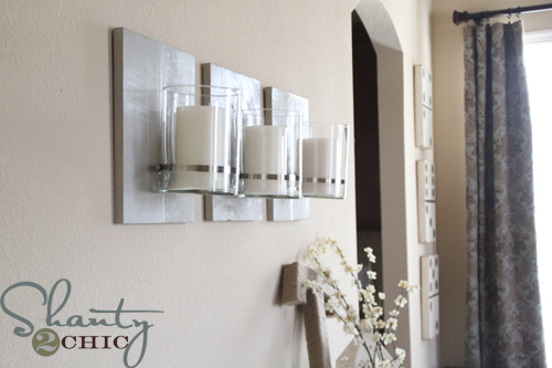 diy industrial chic sconce, home decor, wall decor