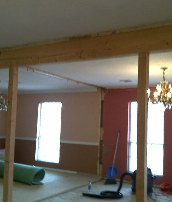 Another shot after beam was installed.