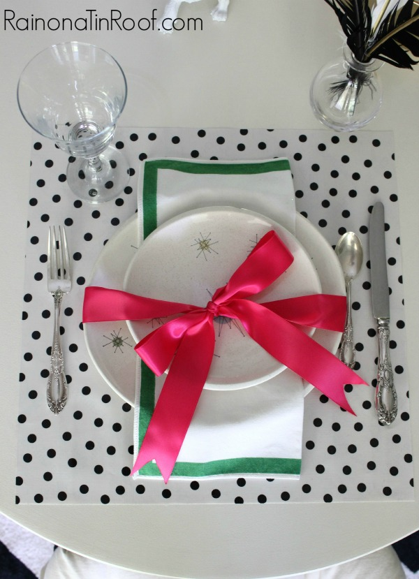 diy polka dot placemats in 15 minutes, crafts, home decor