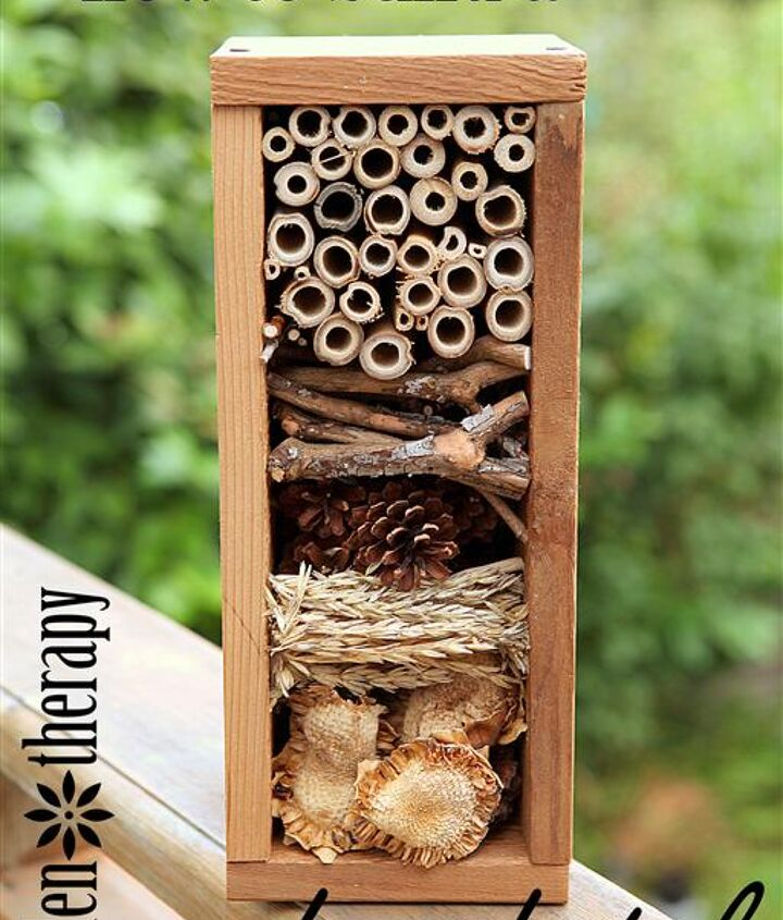 how to build a bug hotel, gardening, woodworking projects