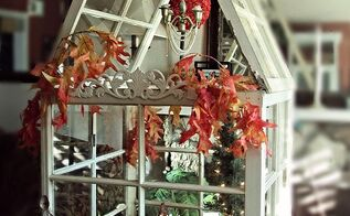 mini greenhouse from old windows that changes with the seasons, christmas decorations, easter decorations, gardening, repurposing upcycling, seasonal holiday d cor, Build a mini greenhouse you can enjoy indoors and change decor with the seasons