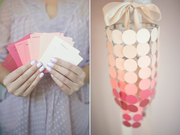 Make swatches part of your crafting - This chandelier is adorable and very creative!