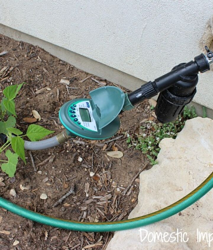 never water your garden again, gardening, The timer and filter