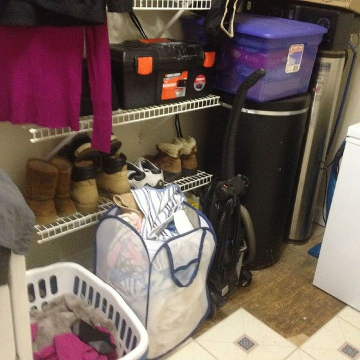 q how to organize decorate a very long and narrow laundry room, home decor, laundry rooms, organizing, my dirty laundry situation