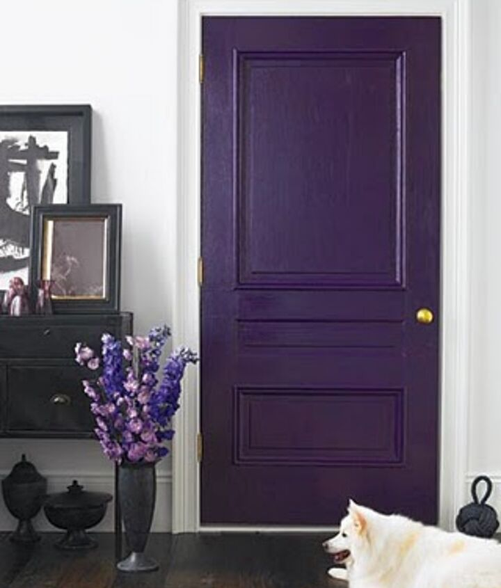 Purple Fixtures: How about a purple door?