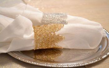 DIY Glitter Lace Napkin Rings
