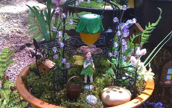 my fairy garden at the beach, gardening