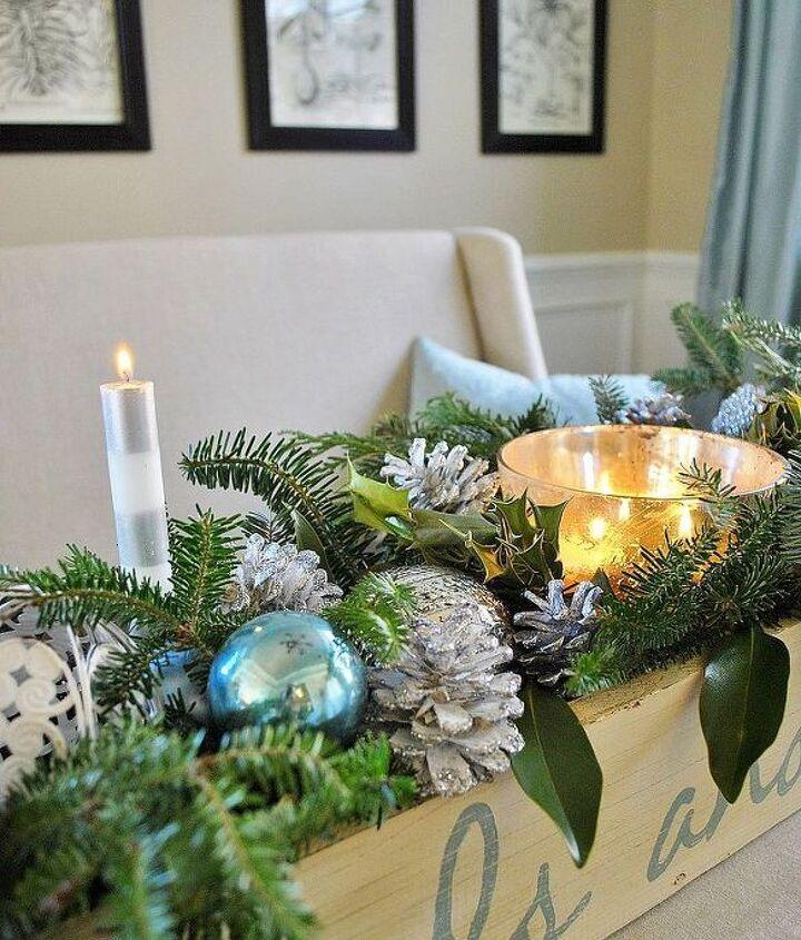 an easy christmas centerpiece, christmas decorations, seasonal holiday decor
