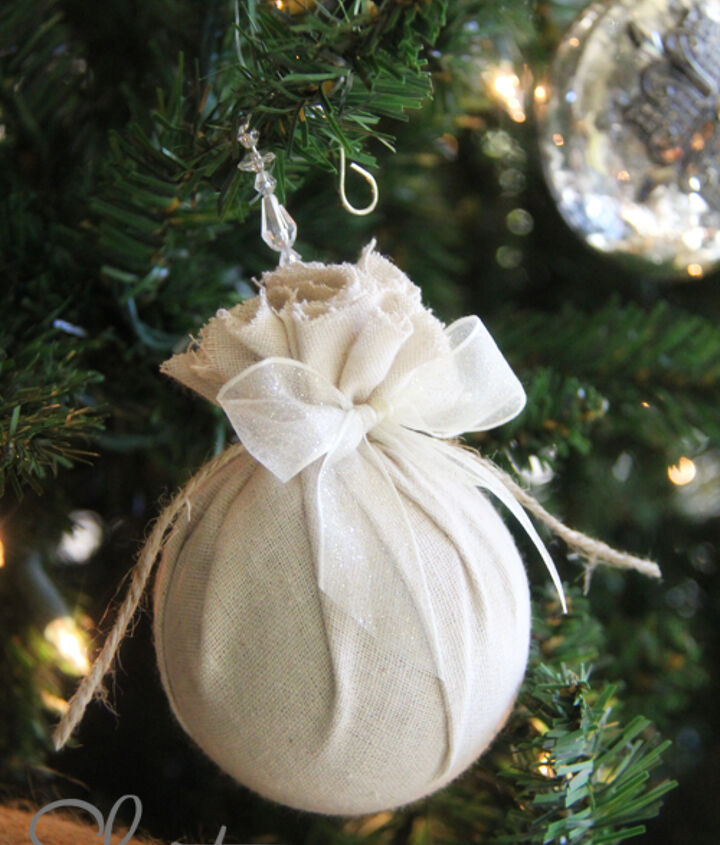 Fabric covered ornament
