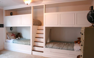 boys bunk beds, bedroom ideas, painted furniture, woodworking projects, After all it s was all done