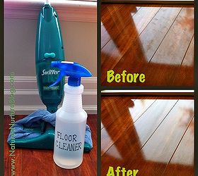 Natural wood floor cleaner Homemade Homemade Floor Cleaner Beforeafter Shots Of Our Dark Laminate Wood Floors Hometalk Allnatural Homemade Floor Cleaner Hometalk