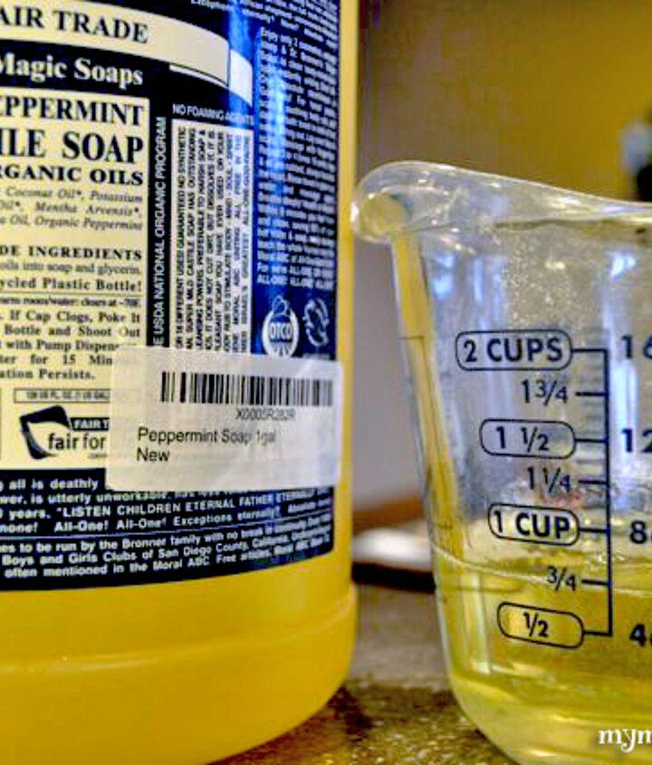 Uses Dr. Bronner's liquid Castile soap