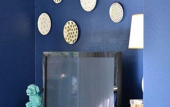gold polka dot plate art, crafts