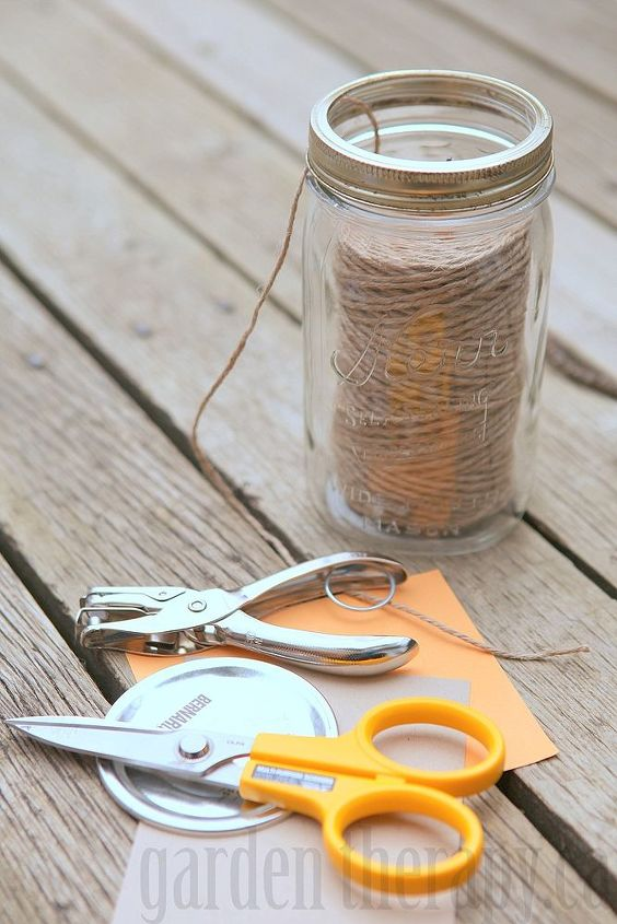 Cut out a cardstock lid and label it.