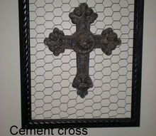 old frame and chicken wire art, crafts, repurposing upcycling