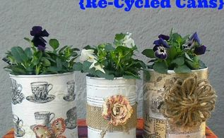 pretty plant pots decoupaged embellished, crafts, decoupage, The first three of a bunch more to come