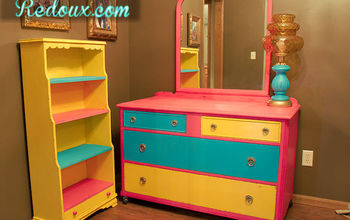 child s chalkpainted dresser and bookshelf, painted furniture, storage ideas
