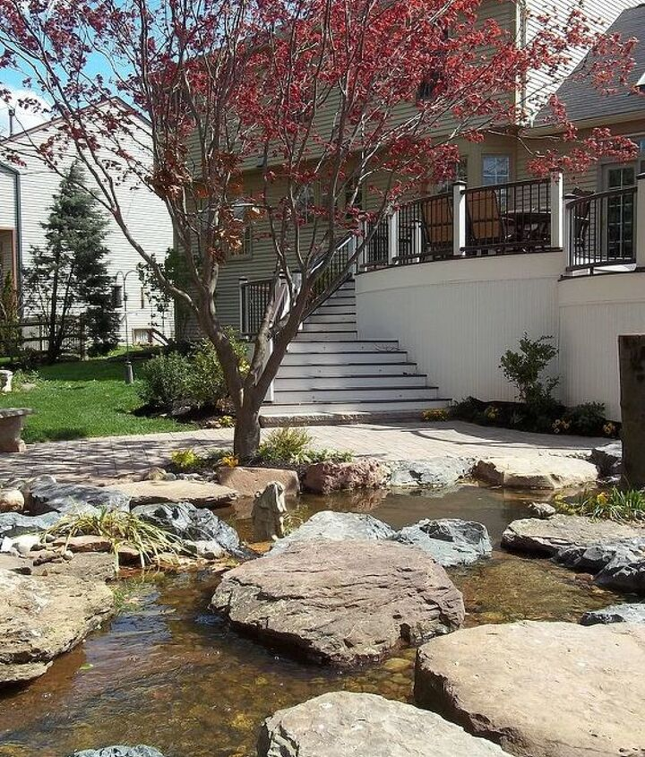 Walk down your stairs to a backyard oasis...