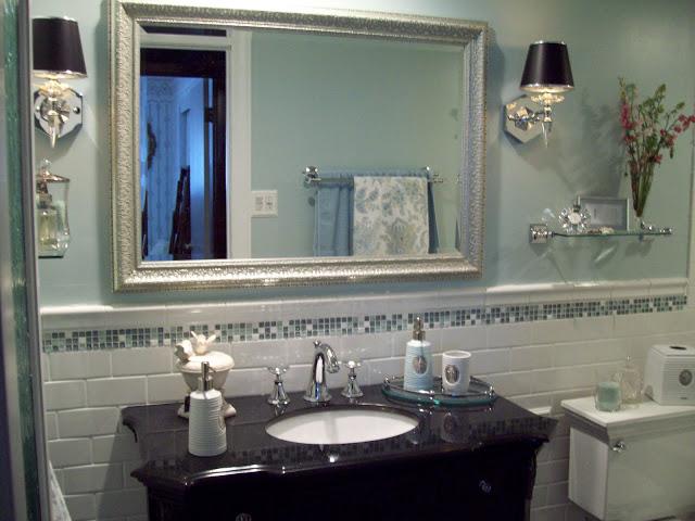 Spa Blue Bathroom Makeover On A Budget Ideas Home Improvement Tiling