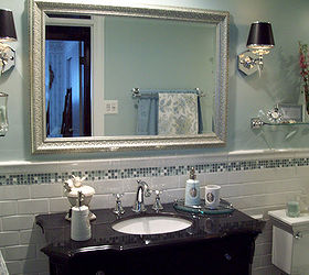 Spa Blue Bathroom Makeover On A Budget, Bathroom Ideas, Home Improvement,  Tiling,
