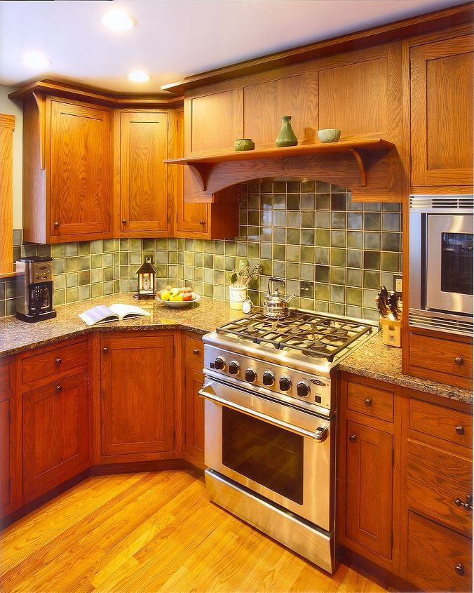 Close up of cabinetry ~ Split-level kitchen renovation by Titus Built, LLC