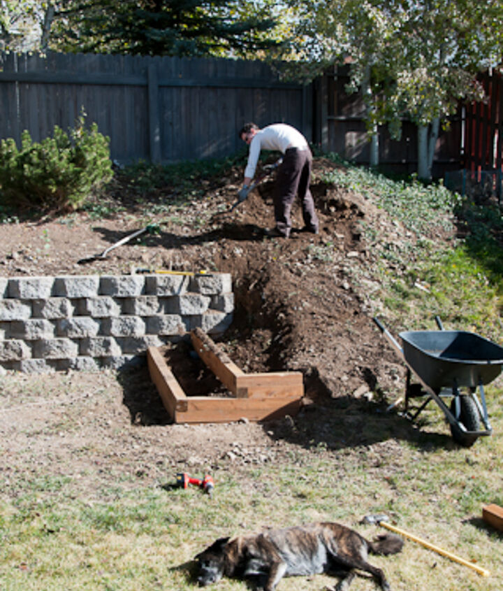 diy landscaping building a retaining wall and garden terracing, gardening, landscape, outdoor living