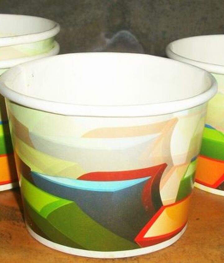 used food paper cups